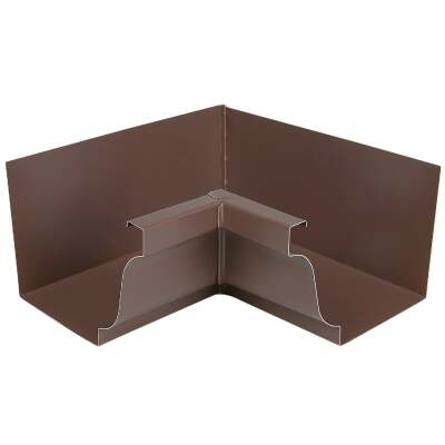 Spectra Metals 5 In. Aluminum Brown Mitre Gutter Inside Corner
