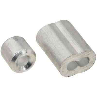 "Prime-Line Cable Ferrules and Stops, 1/8"", Aluminum"