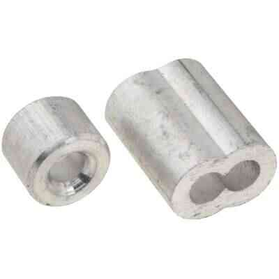 "Prime-Line Cable Ferrules and Stops, 5/32"", Aluminum"