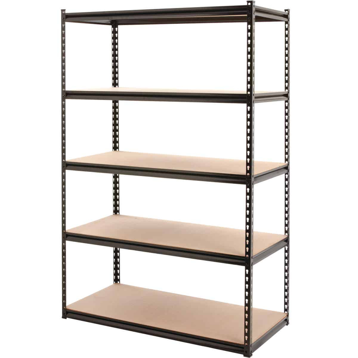 Z-Beam 48 In. x 72 In. x 24 In. Black Steel 5-Tier Shelving Image 1
