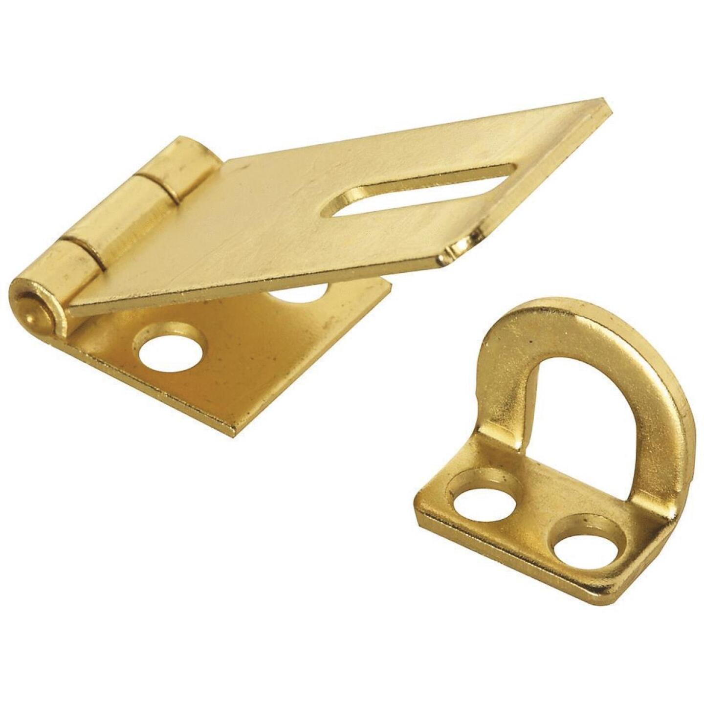 National 1-3/4 In. Brass Non-Swivel Safety Hasp Image 1