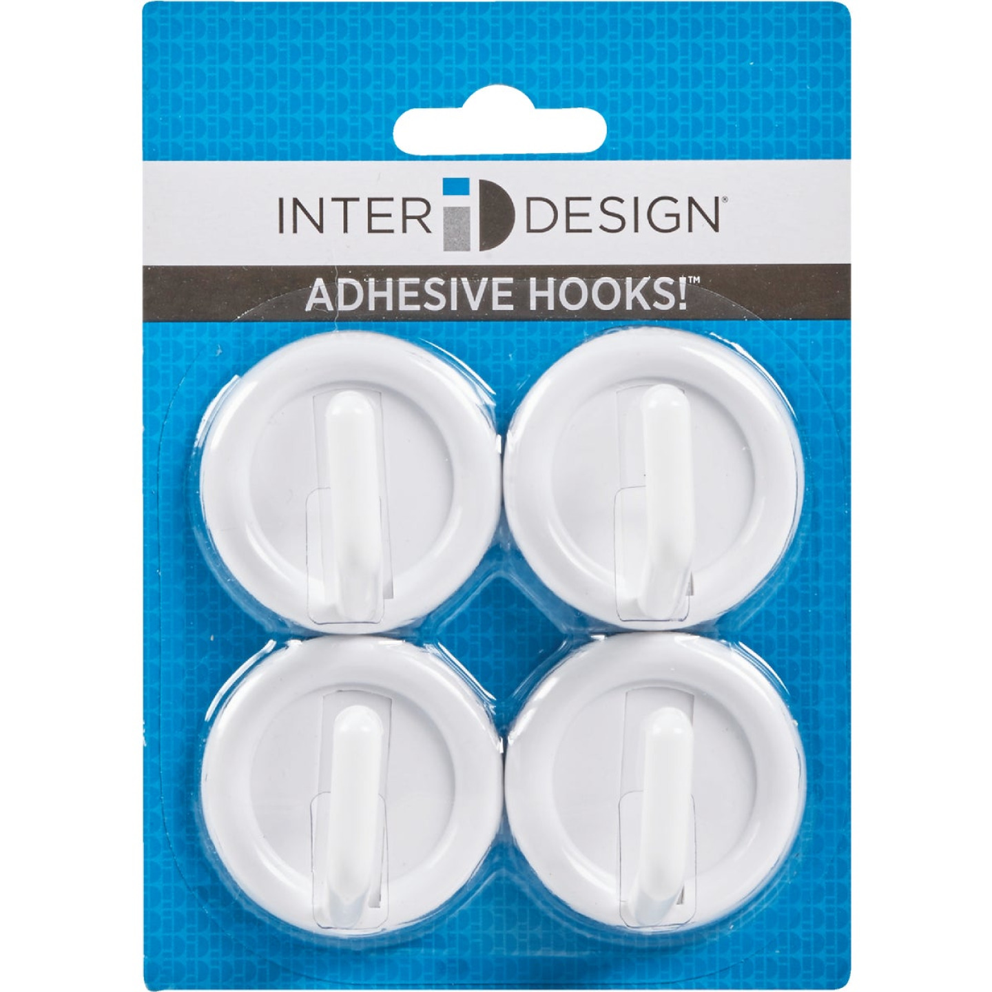 InterDesign Axis Utility Round White Adhesive Hook Image 3