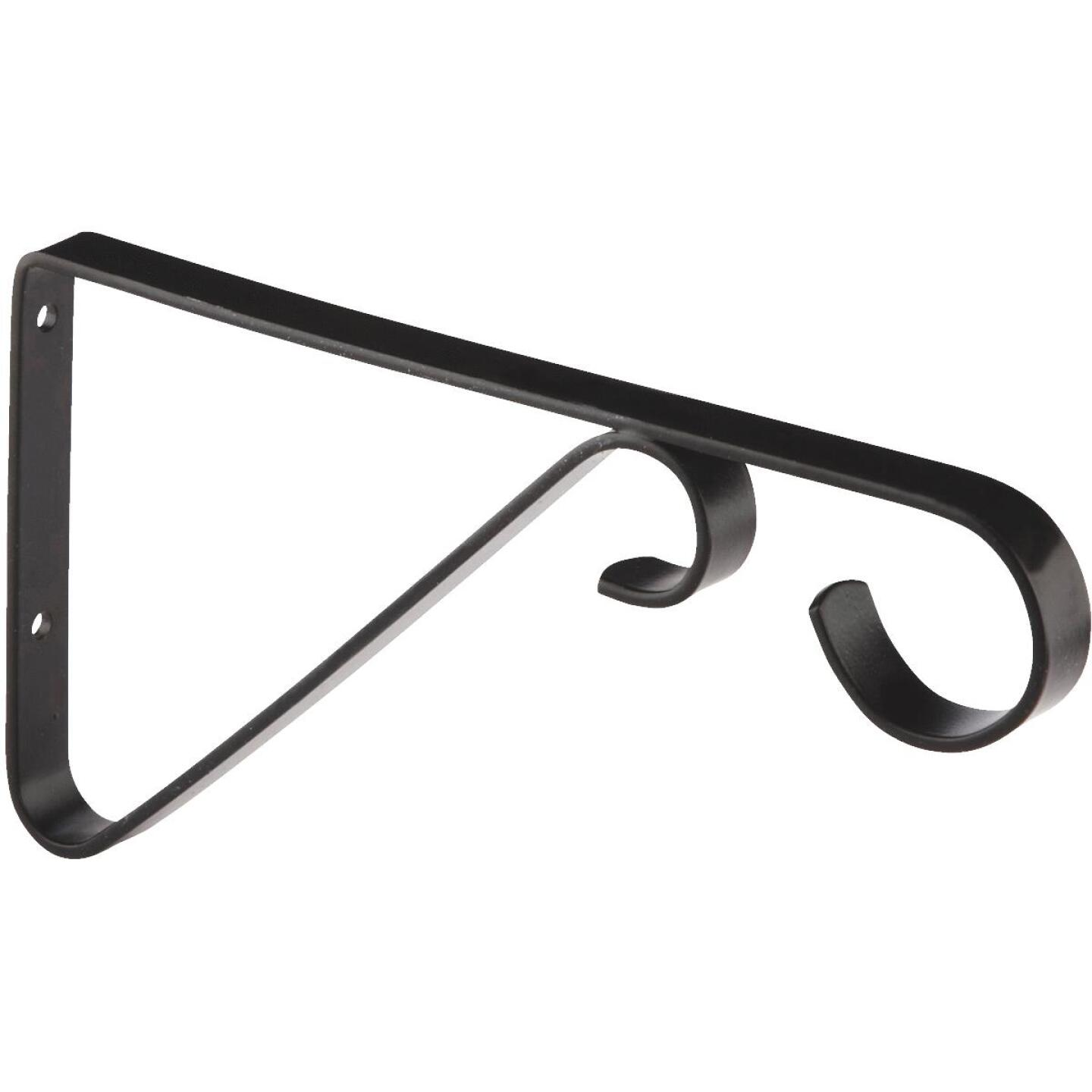National 6 In. Black Steel Hanging Plant Bracket Image 2