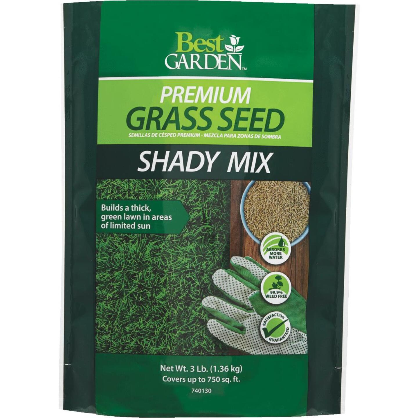 Best Garden 3 Lb. 900 Sq. Ft. Coverage Shady Grass Seed Image 1