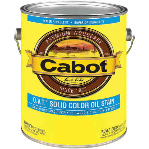 Cabot O.V.T. Solid Color Oil Exterior Stain, Neural Base, 1 Gal.