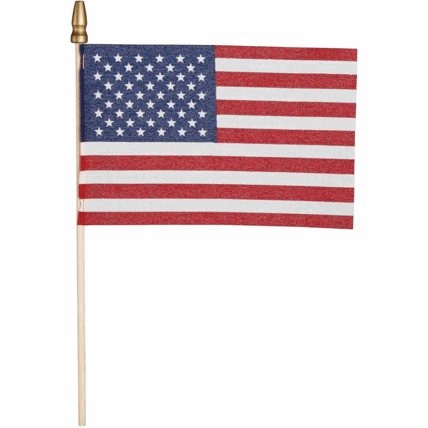 Valley Forge 4 In. x 6 In. Polycotton Stick American Flag Image 2